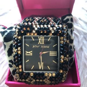 Betsey Johnson Rhinestones Vintage Watch